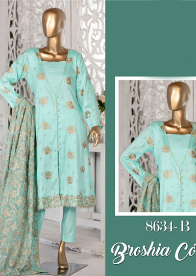 8634 - B - Unstitched Amna Sohail Collection By Tawakkal 2020 - Memsaab Online