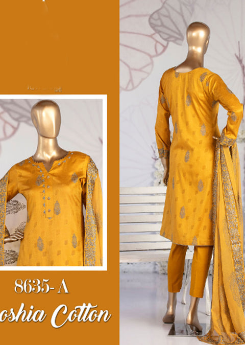 8635 - A - Unstitched Amna Sohail Collection By Tawakkal 2020 - Memsaab Online