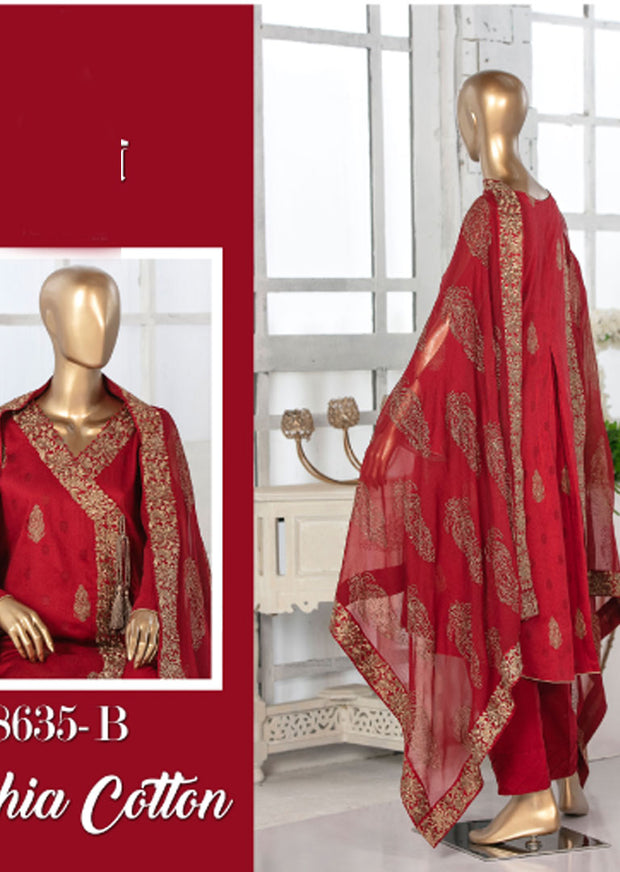 8635 - B - Unstitched Amna Sohail Collection By Tawakkal 2020 - Memsaab Online
