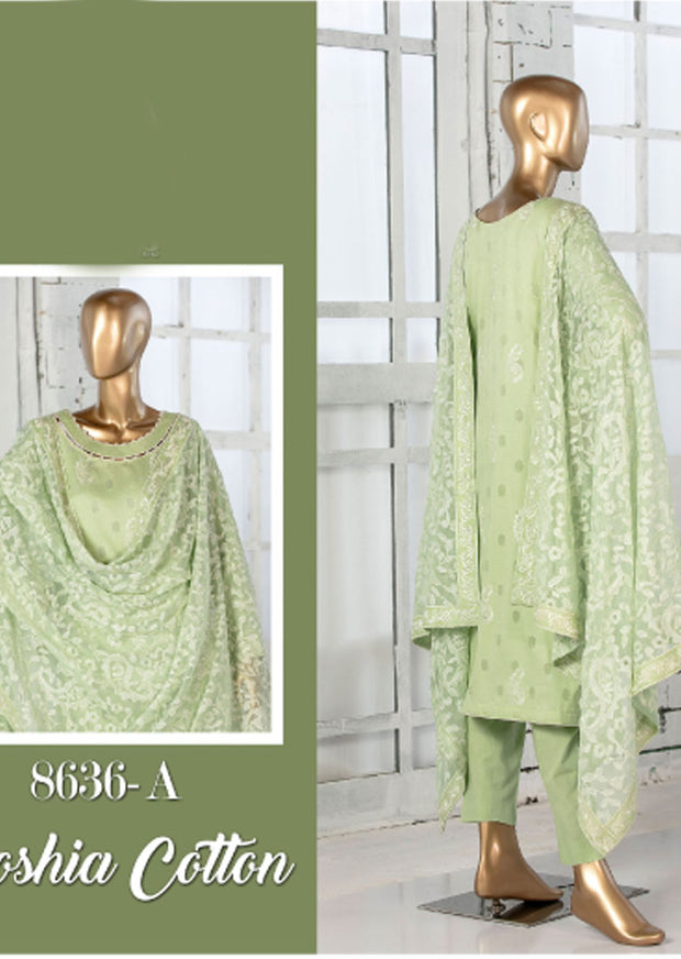 8636 - A - Unstitched Amna Sohail Collection By Tawakkal 2020 - Memsaab Online