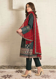 8671 Unstitched Elita Chickenkari Suit by Tawakkal - Memsaab Online