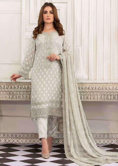 D-8774 - Unstitched - Regalia Broshia Lawn Collection by Tawakkal 2020 - Memsaab Online