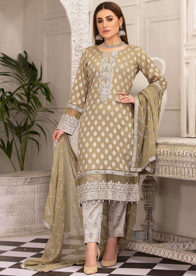 D-8775 - Unstitched - Regalia Broshia Lawn Collection by Tawakkal 2020 - Memsaab Online