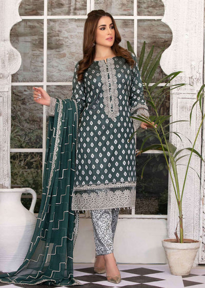 D-8776 - Unstitched - Regalia Broshia Lawn Collection by Tawakkal 2020 - Memsaab Online
