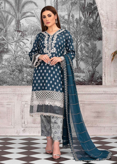 D-8778 - Unstitched - Regalia Broshia Lawn Collection by Tawakkal 2020 - Memsaab Online