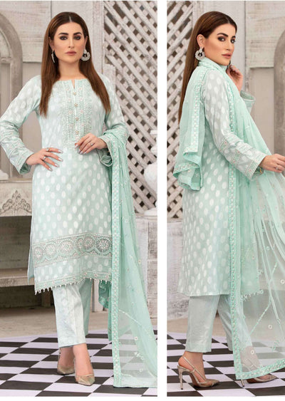 D-8781 - Unstitched - Regalia Broshia Lawn Collection by Tawakkal 2020 - Memsaab Online