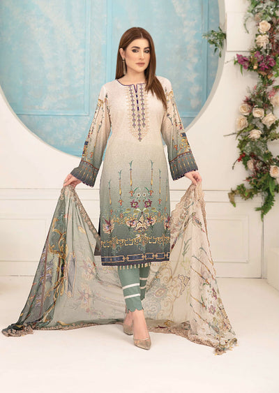 8803 Unstitched Belle Digital Print Lawn by Tawakkal - Memsaab Online