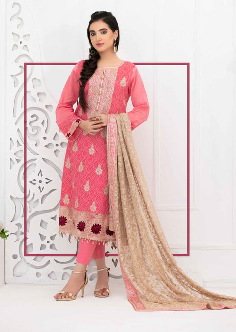 8882 - B - Unstitched Chikankari Ophelia Collection by Tawakkal 2020 - Memsaab Online