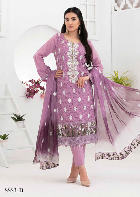 8883 - B - Unstitched Chikankari Ophelia Collection by Tawakkal 2020 - Memsaab Online