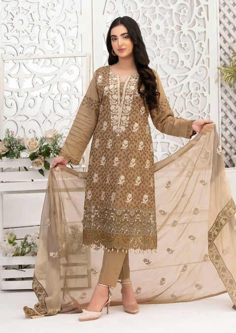 8884 - B - Unstitched Chikankari Ophelia Collection by Tawakkal 2020 - Memsaab Online