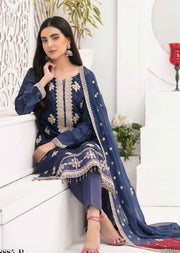 8885 - B - Unstitched Chikankari Ophelia Collection by Tawakkal 2020 - Memsaab Online