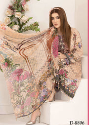 8896 Unstitched Belle Digital Print Lawn by Tawakkal - Memsaab Online