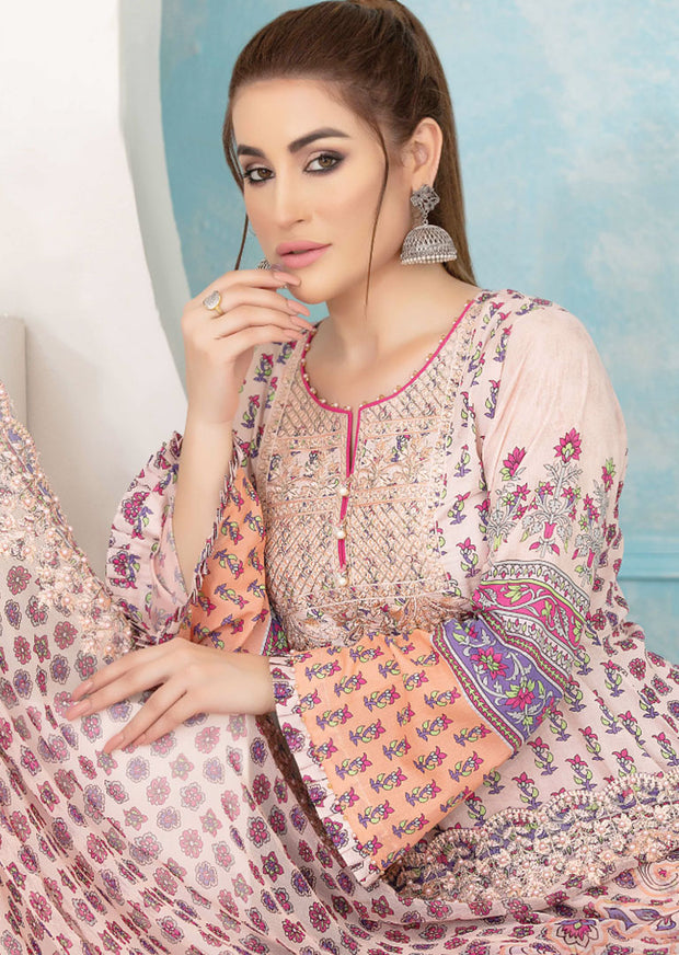 8904 Unstitched Belle Digital Print Lawn by Tawakkal - Memsaab Online