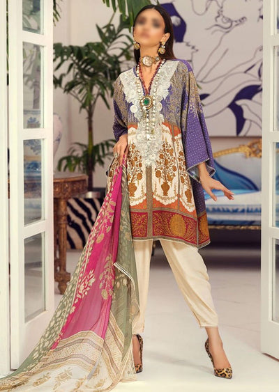 M203-008A - Unstitched - Sana Safinaz Muzlin Winter Collection 2020 - Memsaab Online