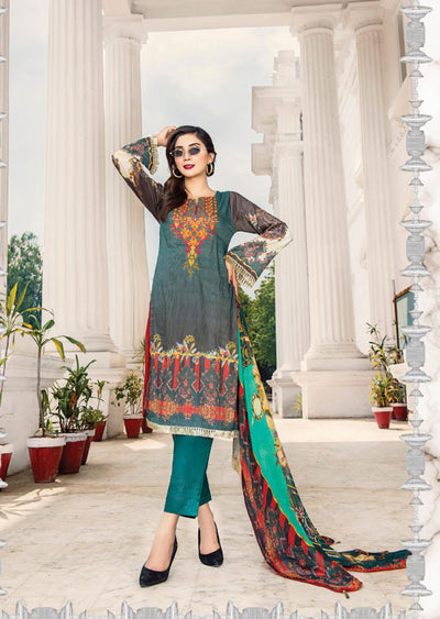 NS08 - Unstitched - Nishat Maysoori Embroidered Collection Vol 1 - Memsaab Online