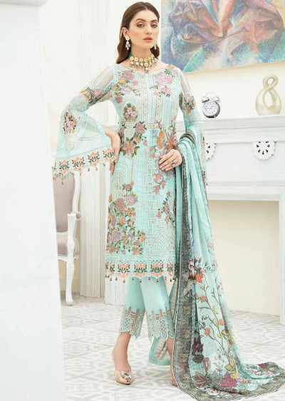 F1908 - Unstitched Ramsha Luxury Chiffon Collection Vol 19 - Memsaab Online