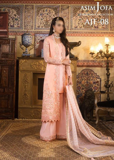 AJF08 - Unstitched - Farozaan Collection by Asim Jofa 2020 - Memsaab Online