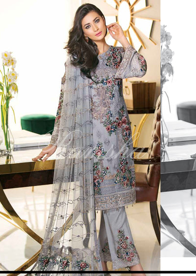 F-1508 - Stitched Readymade Ramsha Zari Volume 15 Glorious Collection - pakistani embroidered chiffon salwar kameez uk - Memsaab Online