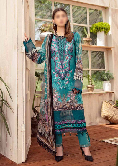 RM-08R - Readymade - Ramsha Chevron Lawn Collection Vol 6 - Memsaab Online