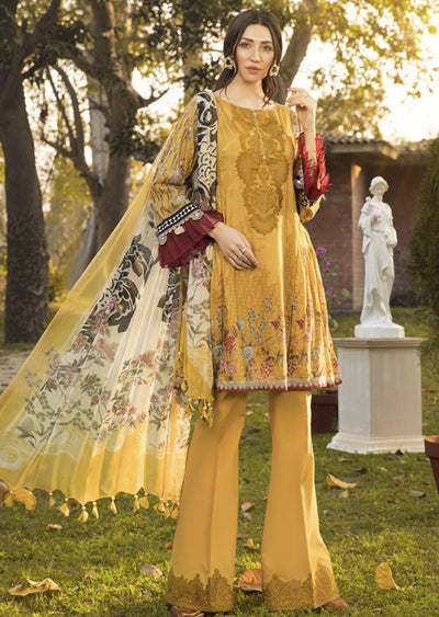 8A Unstitched Maria B Inspired Linen Suit - Memsaab Online