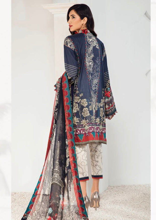 08 Julieta - Fuchsia by Baroque - Unstitched Pakistani Designer Embroidered Lawn Suit - Memsaab Online