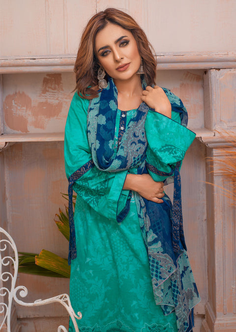 AMT20024 - Readymade Embroidered Lawn Suit - Memsaab Online