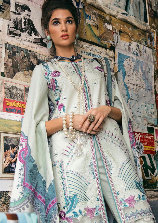 08 ASTER - Epoque Suffuse by Sana Yasir Lawn 2019 - Embroidered Pakistani designerwear UK Delivery - Memsaab Online