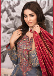 D-9011 - Unstitched Signature Icon Lawn Collection by Tawakkal 2020 - Memsaab Online
