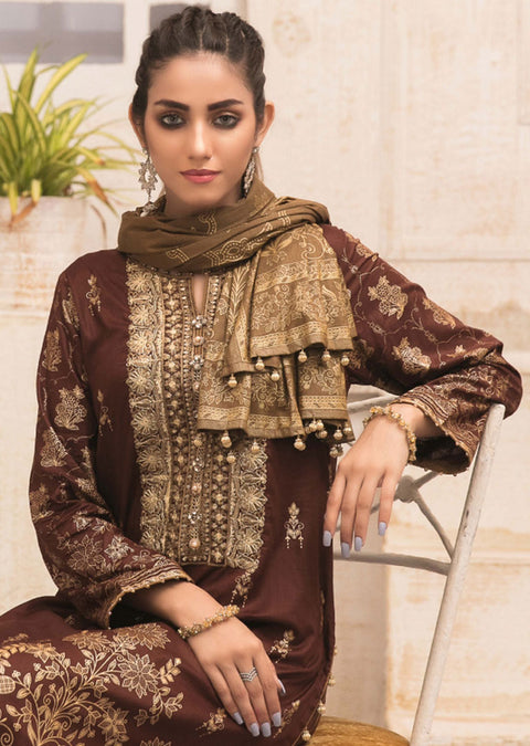 D-9012 - Unstitched Signature Icon Lawn Collection by Tawakkal 2020 - Memsaab Online