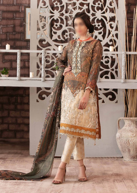D-9089 Unstitched - Luxury Affaire Digital Print by Tawakkal 2020 - Memsaab Online