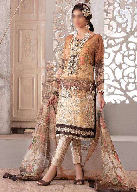 D-9091 Unstitched - Luxury Affaire Digital Print by Tawakkal 2020 - Memsaab Online