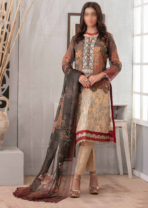 D-9094 Unstitched - Luxury Affaire Digital Print by Tawakkal 2020 - Memsaab Online