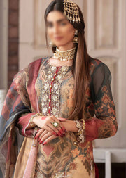 D-9096 Unstitched - Luxury Affaire Digital Print by Tawakkal 2020 - Memsaab Online