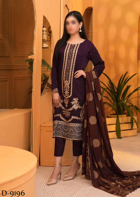 D-9196 Unstitched Verve Viscose Broshia Collection by Tawakkal - Memsaab Online