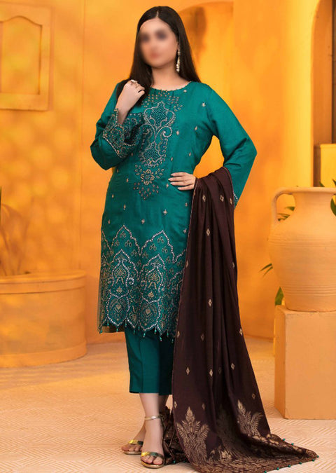 D-9204 Unstitched Verve Viscose Broshia Collection by Tawakkal - Memsaab Online