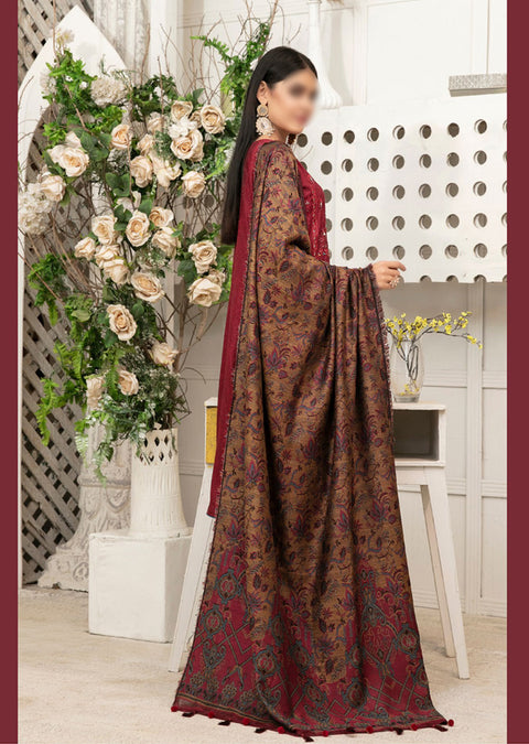 D-9505 - Unstitched - Amelie Pashmina Shawl Collection by Tawakkal - Memsaab Online