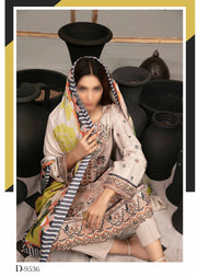 D-9536 - Unstitched - Isadora Digital Shawl Dupatta Collection by Tawakkal - Memsaab Online