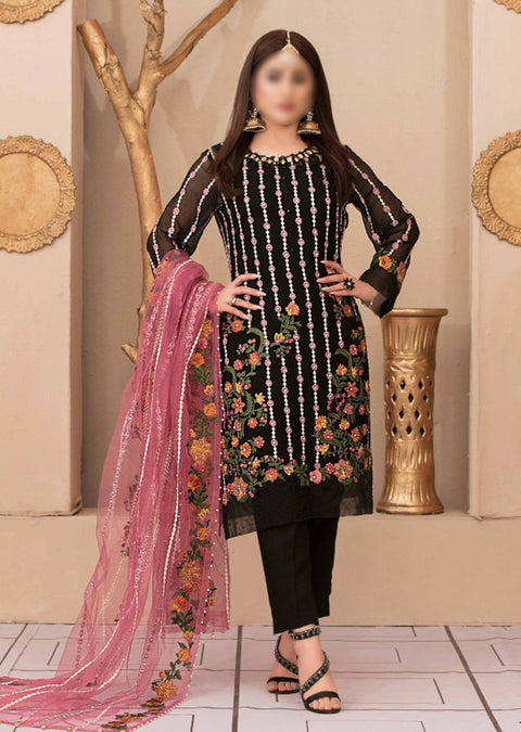 D9544 - Unstitched - Glory and Grandeur Fancy Chiffon Collection by Tawakkal - Memsaab Online