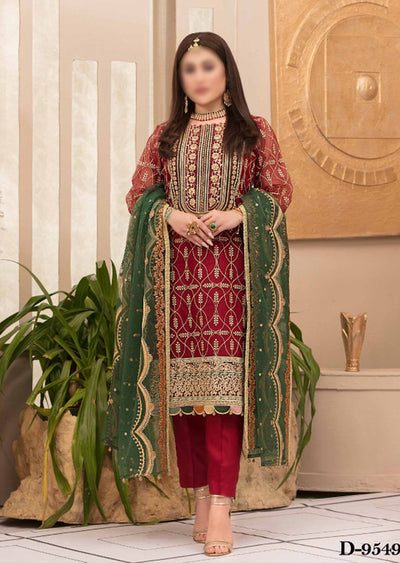 D9549 - Unstitched - Glory and Grandeur Fancy Chiffon Collection by Tawakkal - Memsaab Online