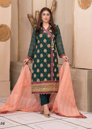 D9552 - Unstitched - Glory and Grandeur Fancy Chiffon Collection by Tawakkal - Memsaab Online