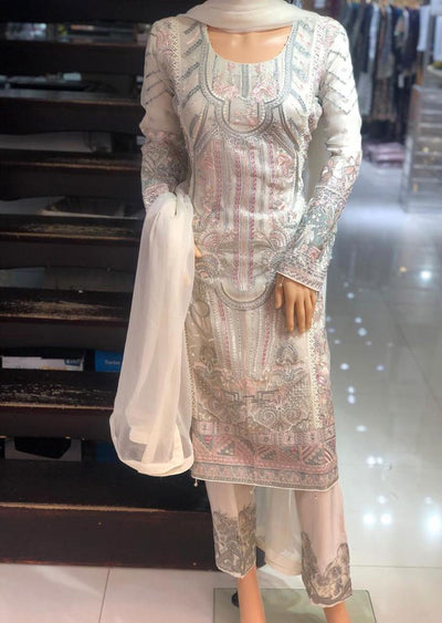 ZN9731 Readymade Zoon Off White Suit - Memsaab Online