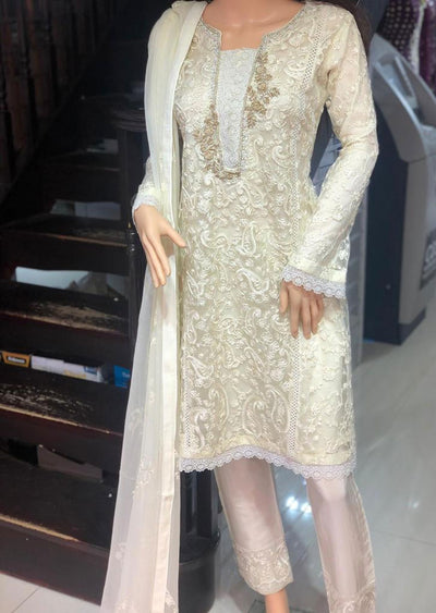 ZN9870 Readymade Zoon Cream Suit - Memsaab Online