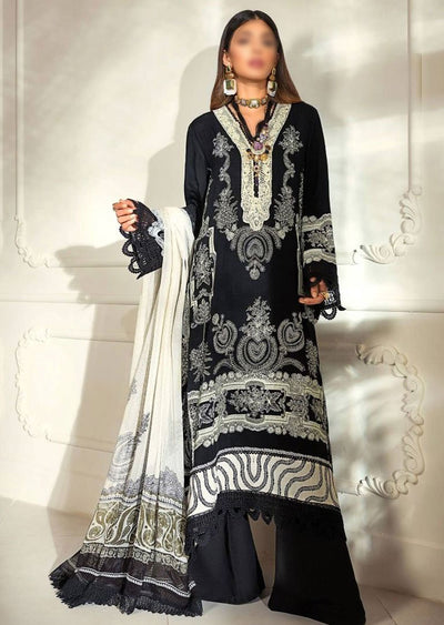M203-009A - Unstitched - Sana Safinaz Muzlin Winter Collection 2020 - Memsaab Online