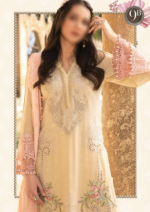 D-2109-B - Unstitched - Maria B Luxe Lawn Collection 2021 - Memsaab Online