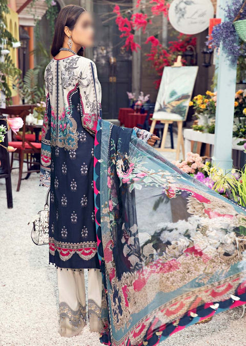 AV09-A - Raya - Unstitched - Viva Lawn Collection 2021 - Anaya by Kiran Chaudhry - Memsaab Online