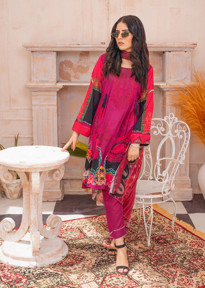 AMT20031 - Readymade Embroidered Lawn Dress - Memsaab Online