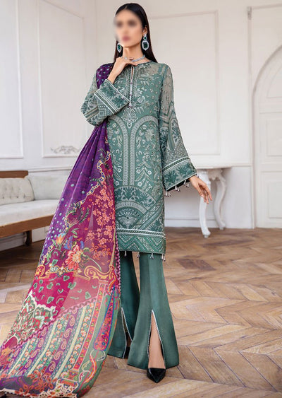 JAZ09 - Vasl - Unstitched - Jazmin Mahpare Luxury Chiffon Collection 2020 - Memsaab Online