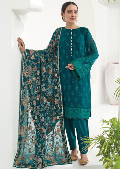 ALZ09 - Forest Enchantress - Unstitched - Alizeh Chiffon Collection Vol 1 2020 - Memsaab Online