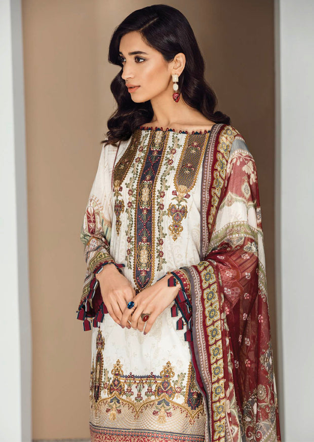 09 Valentina - Fuchsia by Baroque - Unstitched Pakistani Designer Embroidered Lawn Suit - Memsaab Online