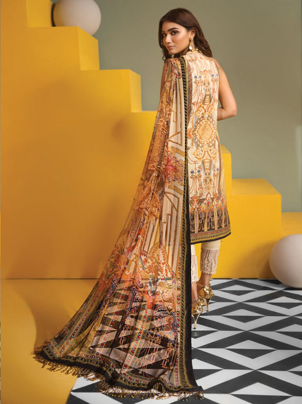 VL19-09 SOPHIA - VIVA - Anaya by Kiran Chaudhry - Unstitched Pakistani Embroidered Lawn Collection - Lowest Price UK - Memsaab Online